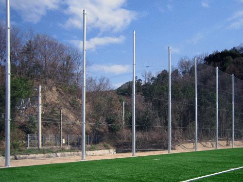 朝日スチール工業S・B防球フェンス金網(6mスパン)タイプ